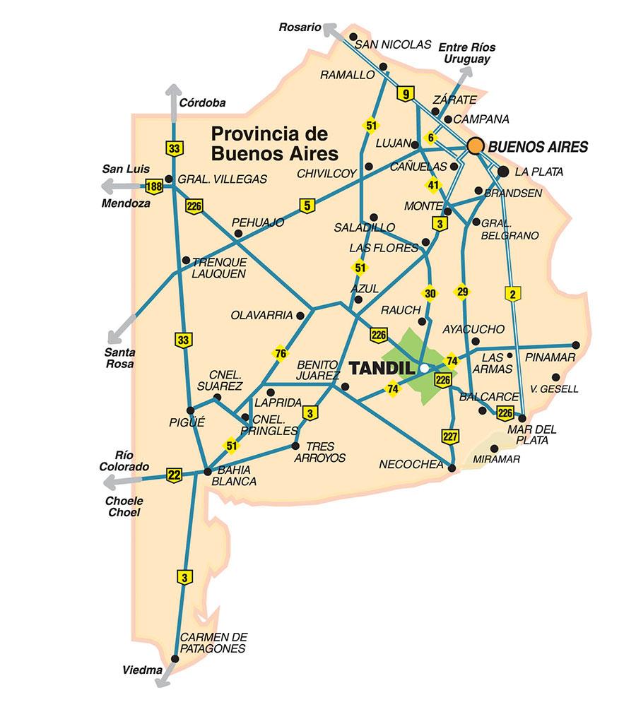Carmen de Patagones mapas