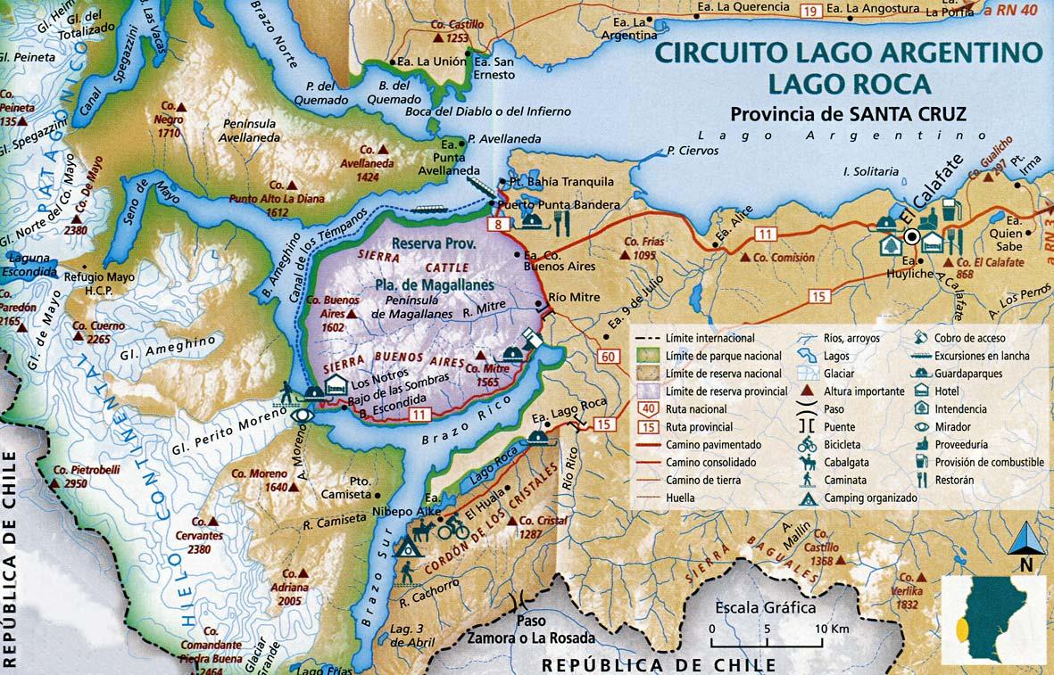 Parque Nacional Los Glaciares Mapas