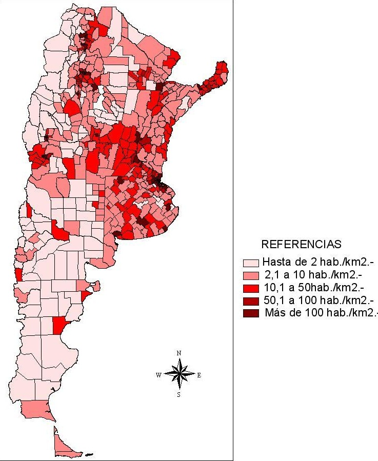 Población en Argentina